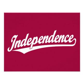 Independence script logo in white custom invitations
