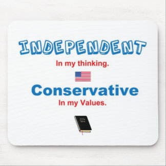 independent and conservative, BIBLE, US FLAG Mouse Pad