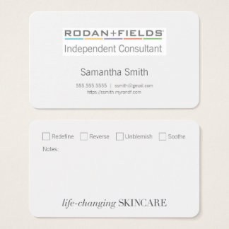 Independent Consultant Biz Cards with Checkboxes