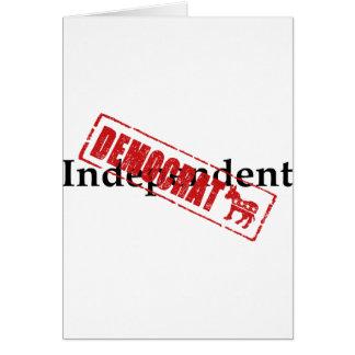 Independent: DEMOCRAT Greeting Card