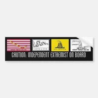 Independent Extremist Bumper Sticker