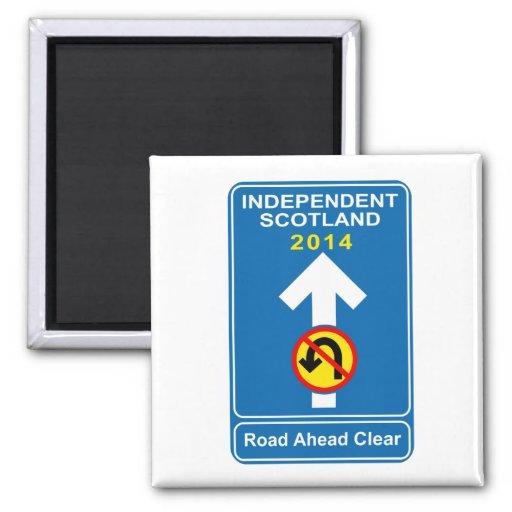 """Independent Scotland """"No u-turn"""" road sign Fridge Magnet"""