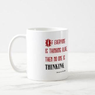 Independent Thinker's Mug. Quote from Ben Franklin Basic White Mug