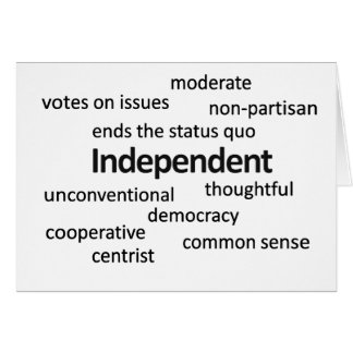Independent voter philosophy and values greeting card