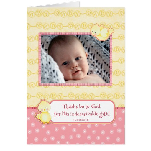 Baby Gift Announcement : Indescribable gift baby girl birth announcement zazzle