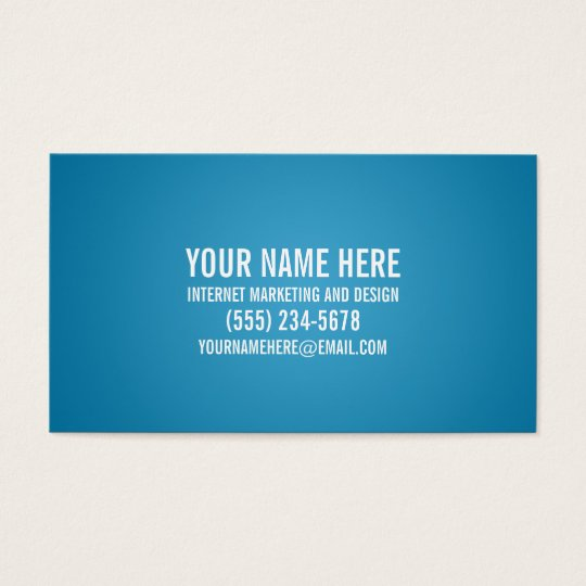 Indestructible Typographic Business Card in Blue