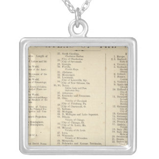 Index Atlas of the World Silver Plated Necklace