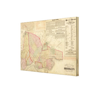 Index Brooklyn map Gallery Wrapped Canvas