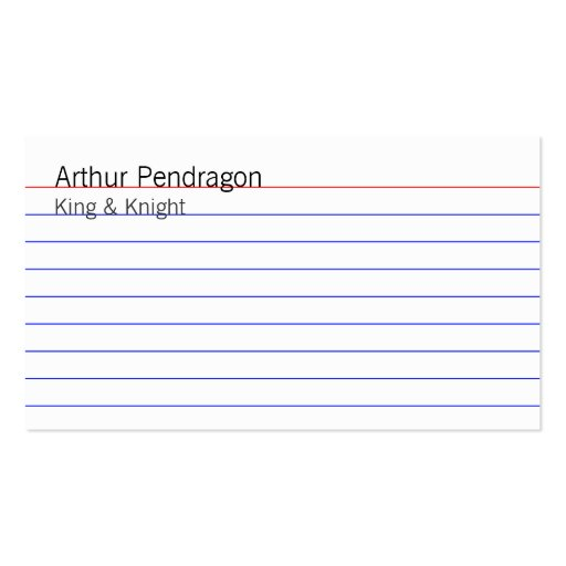 Index Card Business Cards