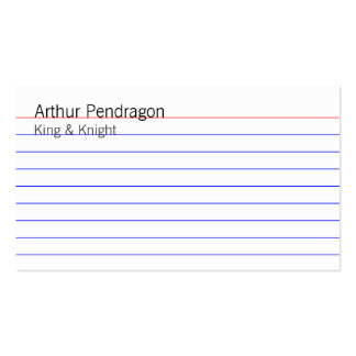 Index Card Pack Of Standard Business Cards
