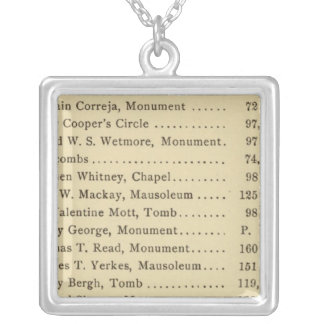 Index Green Wood Cemetery Silver Plated Necklace