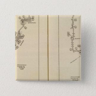 Index map Albany, Saratoga Springs 15 Cm Square Badge