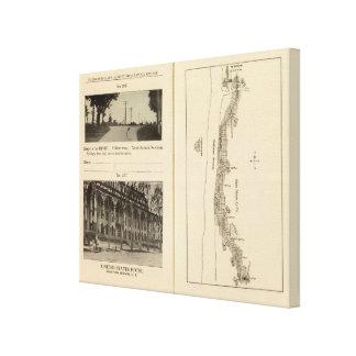 Index map New York City Canvas Print