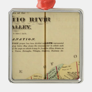 Index map to Atlas of the Upper Ohio River Christmas Ornament