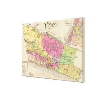 Index map Yonkers atlas Canvas Print