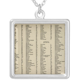 Index Modern atlas Silver Plated Necklace