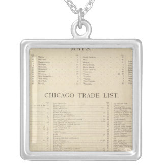Index New commercial atlas Silver Plated Necklace