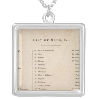 Index of General Atlas of the World Silver Plated Necklace