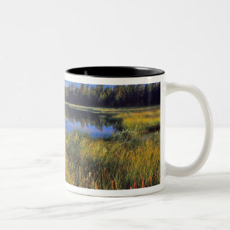 Index Peak reflects into Mud Lake on the Two-Tone Coffee Mug