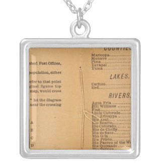 Index Rand McNally's Arizona Silver Plated Necklace
