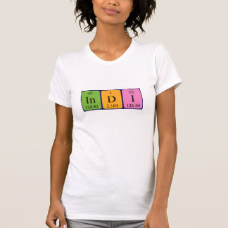 Indi periodic table name shirt