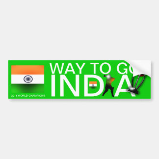 India 2011 Cricket World Champs  Bumper Sticker