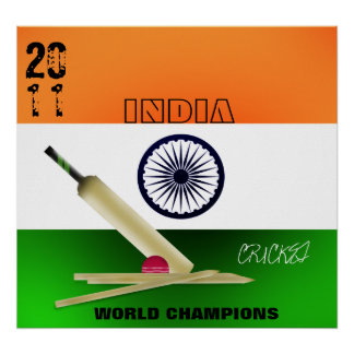 India 2011 ICC World Cup Champions Poster Print