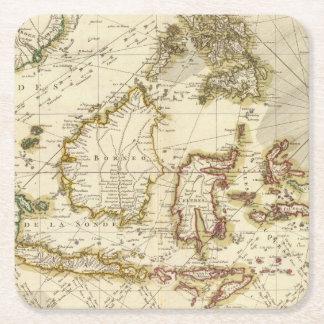 India 3 square paper coaster