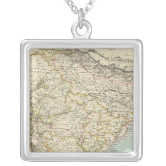 India 5 silver plated necklace