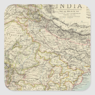 India 5 square sticker