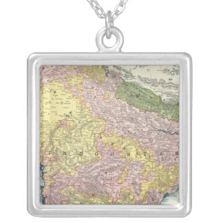 India 7 silver plated necklace