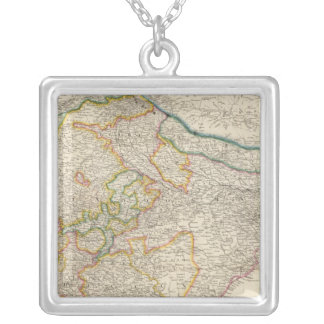 India 8 silver plated necklace