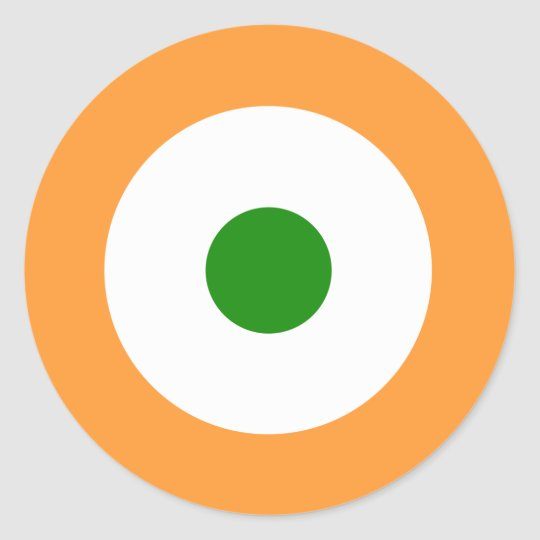 India Air Force Roundel Round Sticker