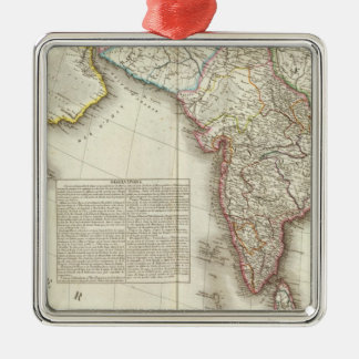 India and Asia Engraved Map Christmas Ornament