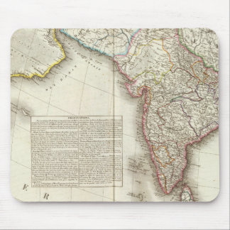 India and Asia Engraved Map Mouse Mat
