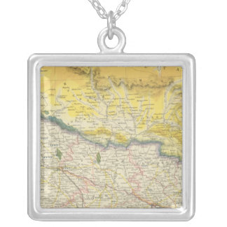 India and Nepal Silver Plated Necklace