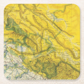 India and Pakistan Square Paper Coaster