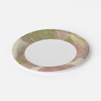India and Sri Lanka Paper Plate