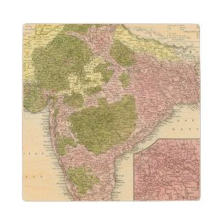India and Sri Lanka Wood Coaster