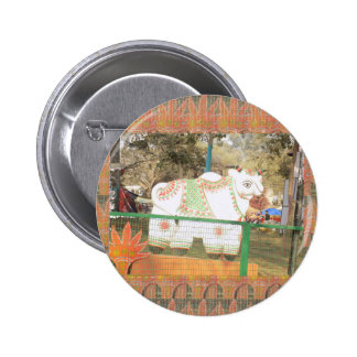 India art crafts show holy cow statue new delhi 6 cm round badge