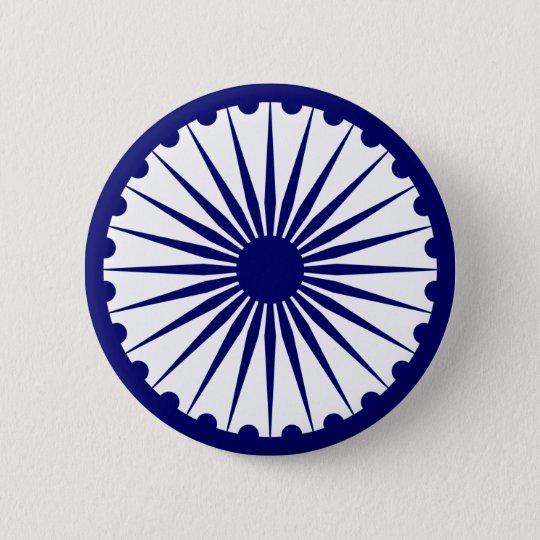 India Ashoka Chakra 6 Cm Round Badge