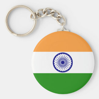 india basic round button key ring