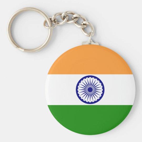 india basic round button key ring