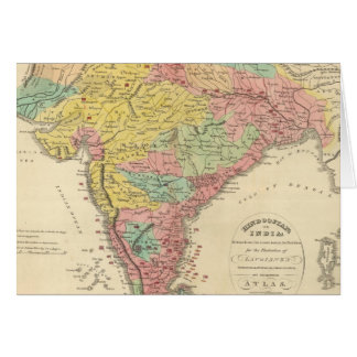 India Battles and Seiges Chonology Map Card