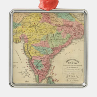 India Battles and Seiges Chonology Map Christmas Ornament