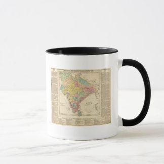 India Battles and Seiges Chonology Map Mug