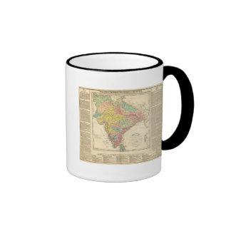 India Battles and Seiges Chonology Map Ringer Mug