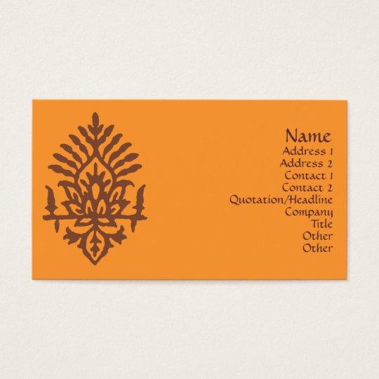 India Block Print Business Card