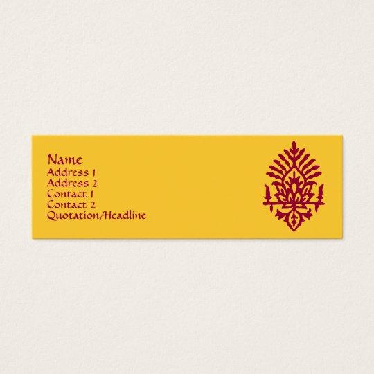 India Block Print Mini Business Card