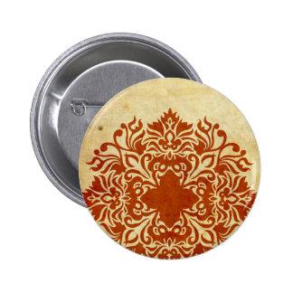 India Burnt Sunset Pinback Buttons